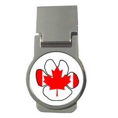 Mega Paw Canadian Flag Money Clips (Round)