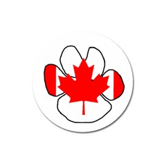 Mega Paw Canadian Flag Magnet 3  (Round)