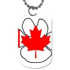 Mega Paw Canadian Flag Dog Tag (One Side)