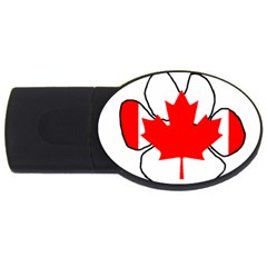 Mega Paw Canadian Flag USB Flash Drive Oval (1 GB)