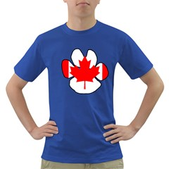 Mega Paw Canadian Flag Dark T-Shirt