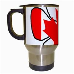 Mega Paw Canadian Flag Travel Mugs (White)