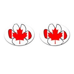 Mega Paw Canadian Flag Cufflinks (Oval)