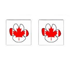 Mega Paw Canadian Flag Cufflinks (Square)