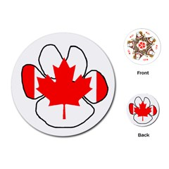 Mega Paw Canadian Flag Playing Cards (Round)