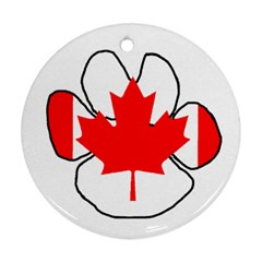 Mega Paw Canadian Flag Round Ornament (Two Sides)