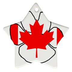 Mega Paw Canadian Flag Star Ornament (Two Sides)