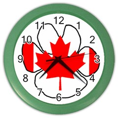 Mega Paw Canadian Flag Color Wall Clocks