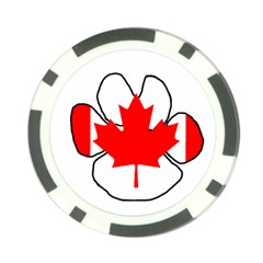 Mega Paw Canadian Flag Poker Chip Card Guard