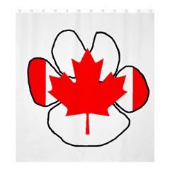 Mega Paw Canadian Flag Shower Curtain 66  x 72  (Large)