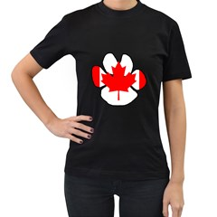 Mega Paw Canadian Flag Women s T-Shirt (Black)