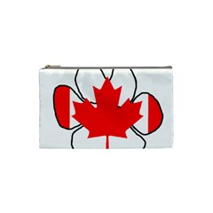 Mega Paw Canadian Flag Cosmetic Bag (Small)