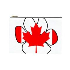 Mega Paw Canadian Flag Cosmetic Bag (Large)