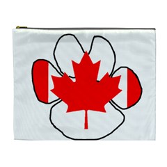 Mega Paw Canadian Flag Cosmetic Bag (XL)