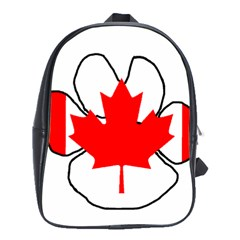 Mega Paw Canadian Flag School Bags(Large)