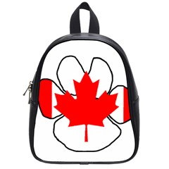 Mega Paw Canadian Flag School Bags (Small)