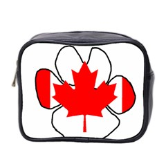Mega Paw Canadian Flag Mini Toiletries Bag 2-Side