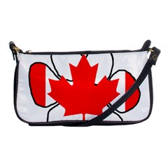 Mega Paw Canadian Flag Shoulder Clutch Bags