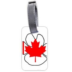Mega Paw Canadian Flag Luggage Tags (Two Sides)