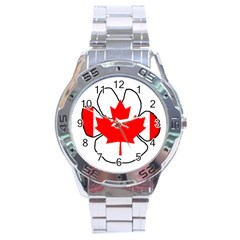 Mega Paw Canadian Flag Stainless Steel Analogue Watch