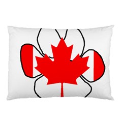 Mega Paw Canadian Flag Pillow Case (Two Sides)