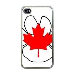 Mega Paw Canadian Flag Apple iPhone 4 Case (Clear)