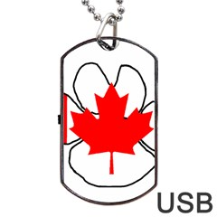 Mega Paw Canadian Flag Dog Tag USB Flash (One Side)
