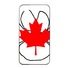Mega Paw Canadian Flag Apple iPhone 4/4s Seamless Case (Black)
