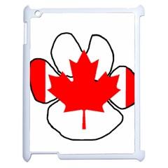 Mega Paw Canadian Flag Apple iPad 2 Case (White)