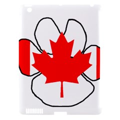 Mega Paw Canadian Flag Apple iPad 3/4 Hardshell Case (Compatible with Smart Cover)