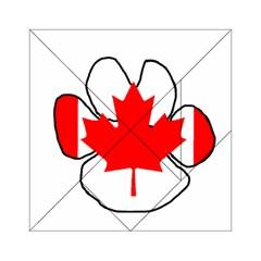 Mega Paw Canadian Flag Acrylic Tangram Puzzle (6  x 6 )