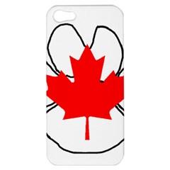 Mega Paw Canadian Flag Apple iPhone 5 Hardshell Case