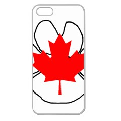 Mega Paw Canadian Flag Apple Seamless iPhone 5 Case (Clear)