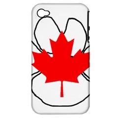 Mega Paw Canadian Flag Apple iPhone 4/4S Hardshell Case (PC+Silicone)