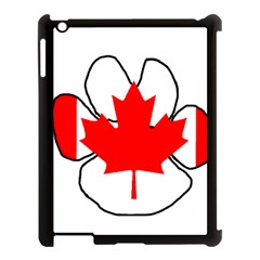 Mega Paw Canadian Flag Apple iPad 3/4 Case (Black)