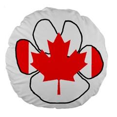 Mega Paw Canadian Flag Large 18  Premium Round Cushions