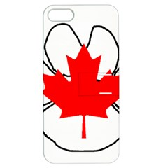 Mega Paw Canadian Flag Apple iPhone 5 Hardshell Case with Stand