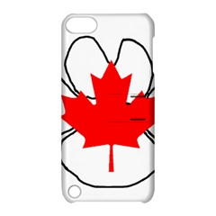 Mega Paw Canadian Flag Apple iPod Touch 5 Hardshell Case with Stand