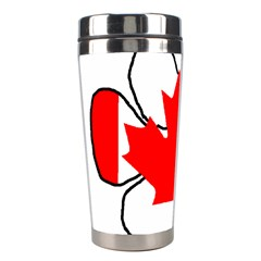 Mega Paw Canadian Flag Stainless Steel Travel Tumblers