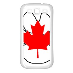 Mega Paw Canadian Flag Samsung Galaxy S3 Back Case (White)