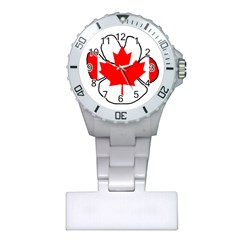 Mega Paw Canadian Flag Plastic Nurses Watch
