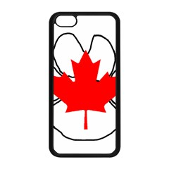 Mega Paw Canadian Flag Apple iPhone 5C Seamless Case (Black)