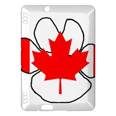 Mega Paw Canadian Flag Kindle Fire HDX Hardshell Case