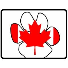 Mega Paw Canadian Flag Double Sided Fleece Blanket (Large)