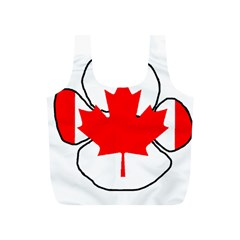Mega Paw Canadian Flag Full Print Recycle Bags (S)