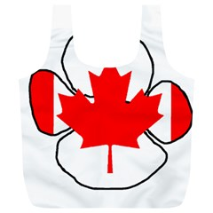 Mega Paw Canadian Flag Full Print Recycle Bags (L)