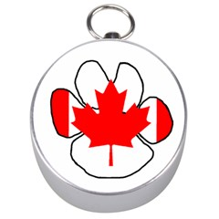 Mega Paw Canadian Flag Silver Compasses