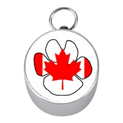 Mega Paw Canadian Flag Mini Silver Compasses