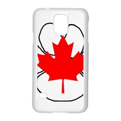 Mega Paw Canadian Flag Samsung Galaxy S5 Case (White)
