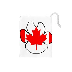 Mega Paw Canadian Flag Drawstring Pouches (Small)